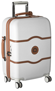 Delsey Luggage Chatelet Hard+ 21 Carry on 4 Wheel Spinner, Champagne