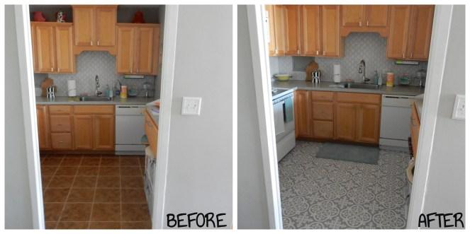 another diy kitchen update floor tile