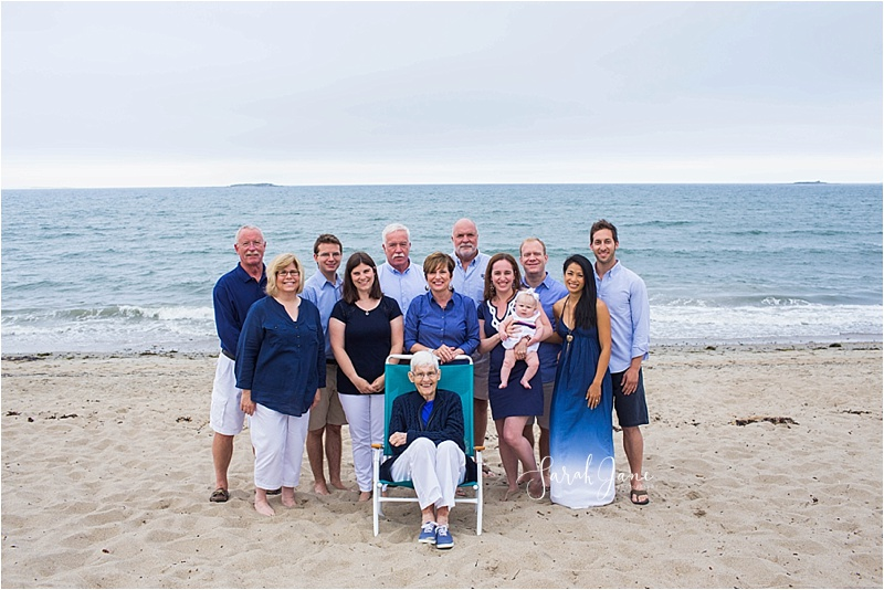Sarah Jane Photography | Extended Family Multi-generational portrait Southern Maine