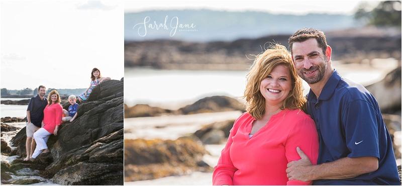 Sarah Jane Photography   Pemaquid Beach Park Family Portrait Session