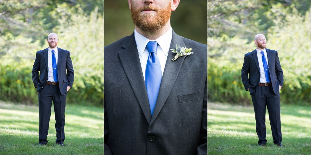 Groom's Suit and Tie Miane Wedding