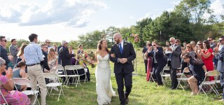 Just Married at Gisland Farm Maine Audubon Center