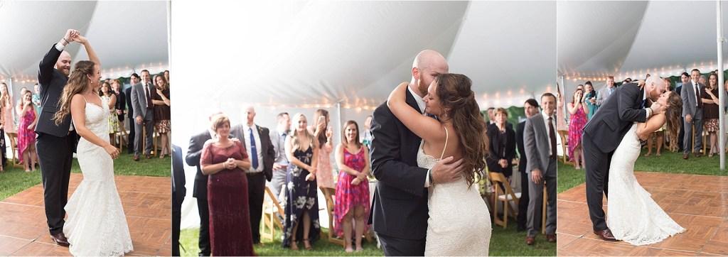 Maine Wedding at Gisland Farm Maine Audubon Center Tented Wedding First Dance