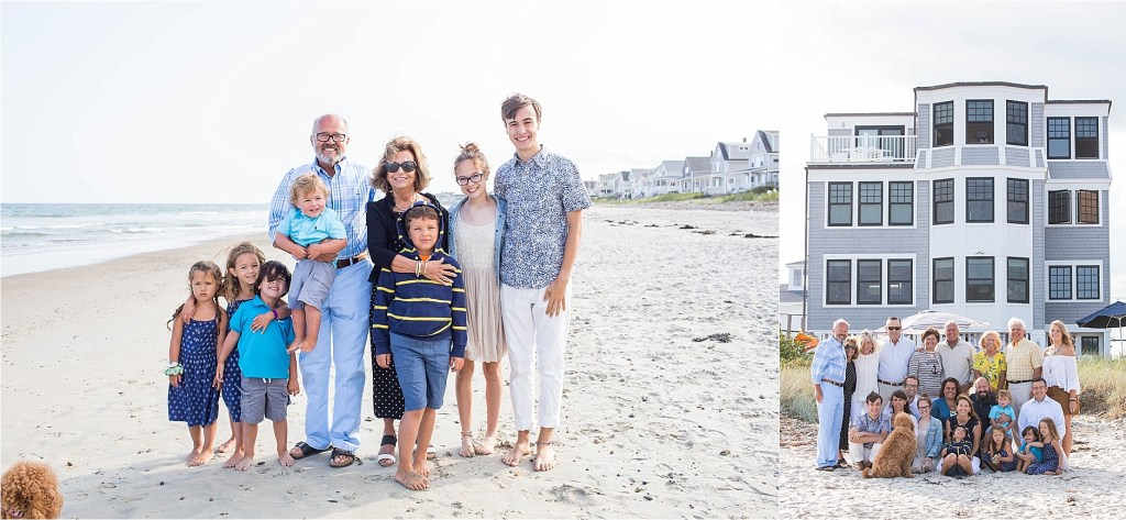 50th Anniversary Party Family Portrait Wells Beach Maine