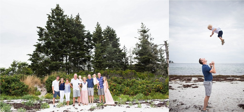 Pemaquid Beach Family Portrait Session Sarah Jane Photography Maine Family Photographer