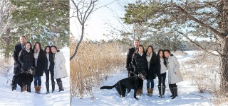 Winter Family Portrait Session | Maine Family Photographer