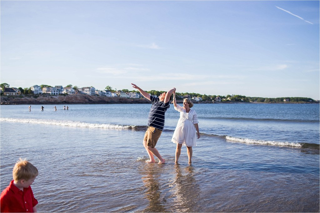 Short Sands Beach York Maine Dancing in the ocean Mom and Dad