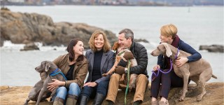 Family on Rocky Coast in Portland Maine Family Photographer