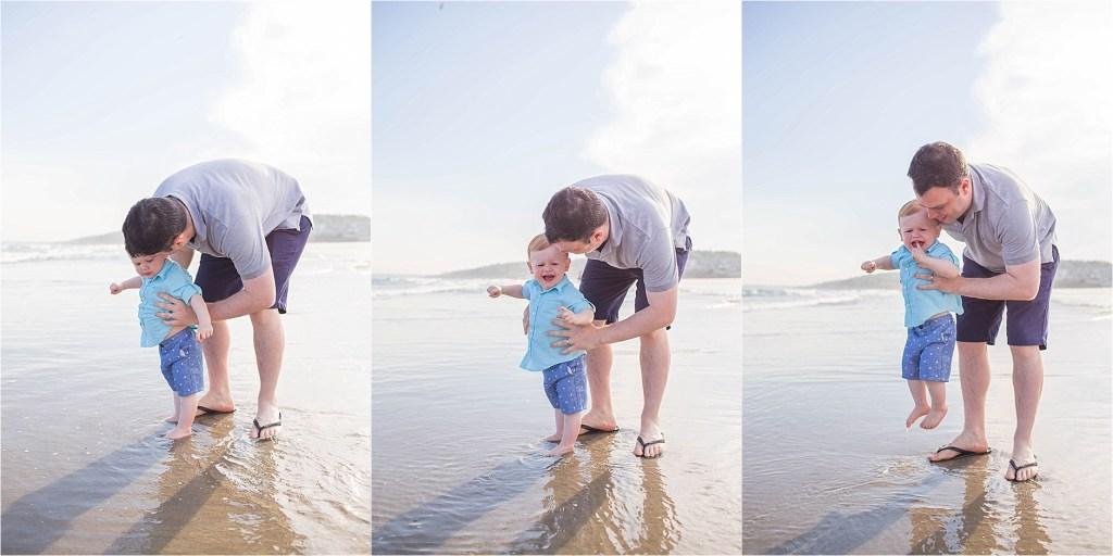 No Waves Higgins beach Maine Family Photographer