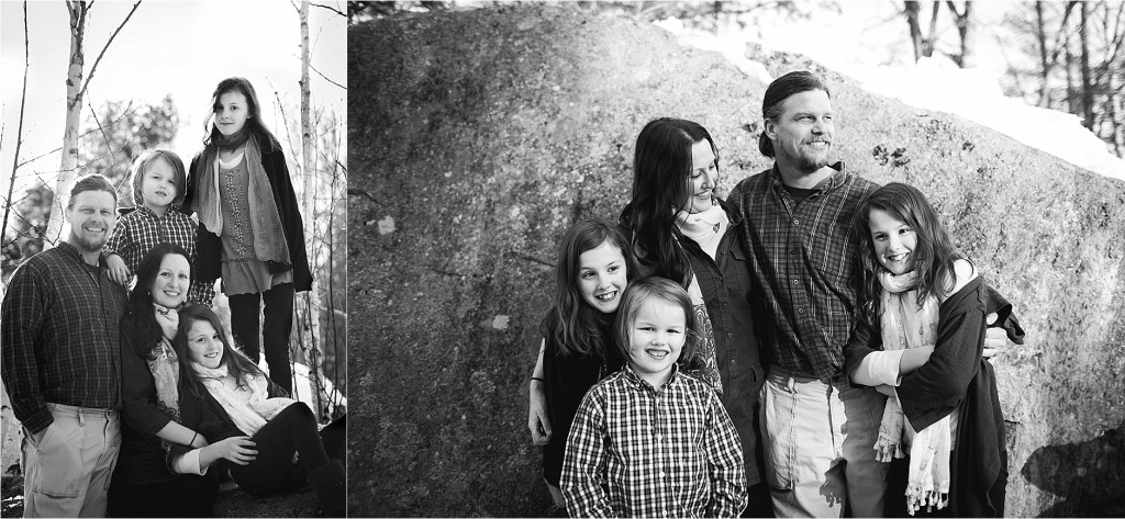 Winter Family Portrait Maine Family Photographer Sarah Jane Photography