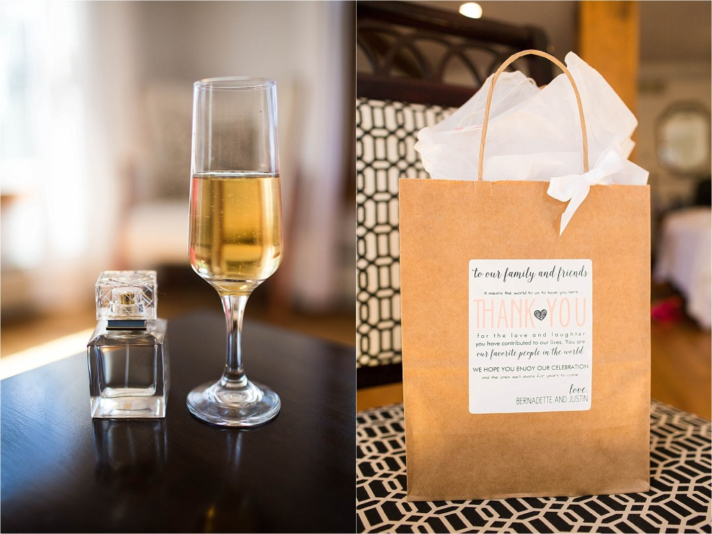 Welcome Bag Maine Wedding Photographer Sarah Jane Photography