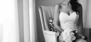 Bridal Portrait Black and White Portrait Maine Wedding Photographer