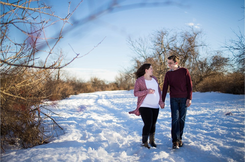 "Winter Maternity Session | The ""M"" Family Part 1"