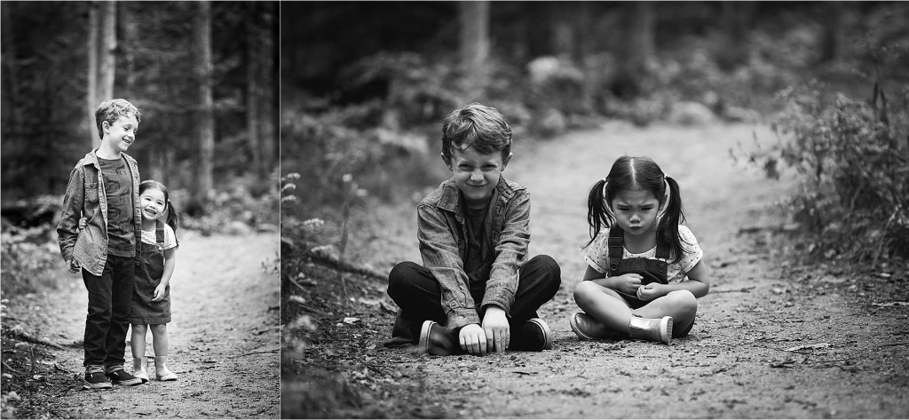 kids makes silly faces during portrait session Maine Family Photographer, Freeport Maine Photographer,