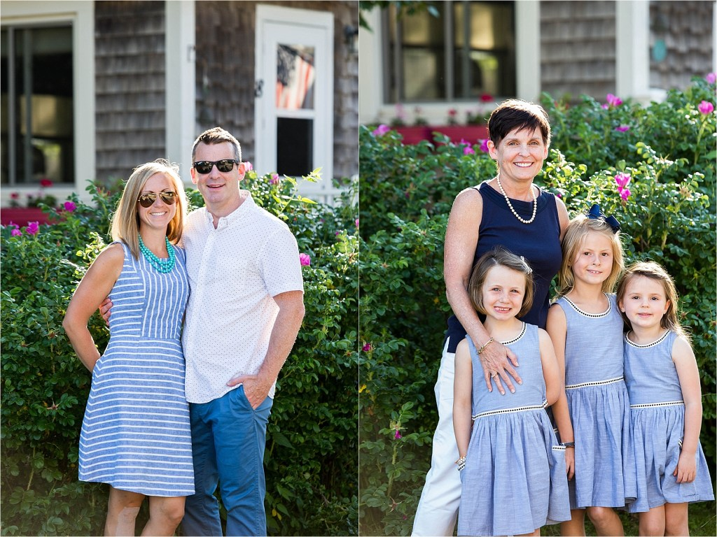 Family portraits in Kennebunkport's Goose Rocks Beach Maine Family Photographer