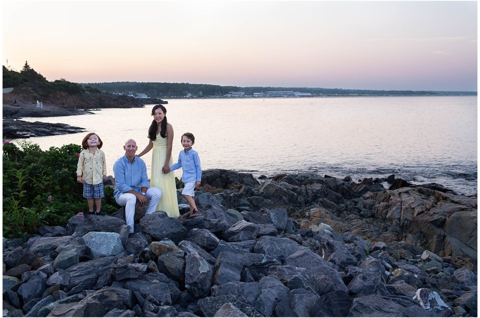 Ogunquit Maine Sunset Family Session | The C Family