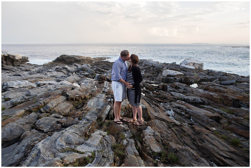 Maternity Photo Session at Pemaquid Point