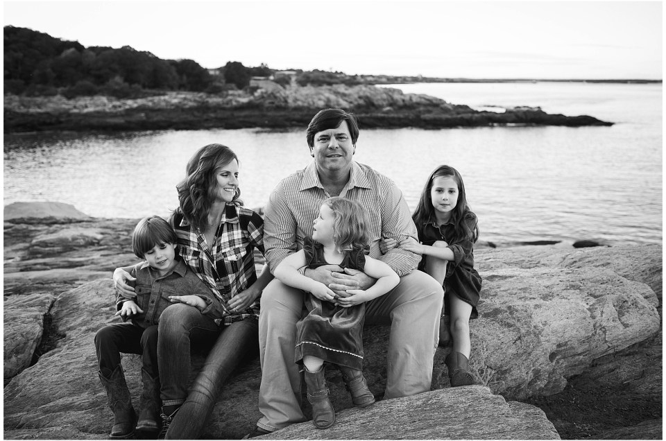 Sunset Family Session in Portland Maine | The B Family