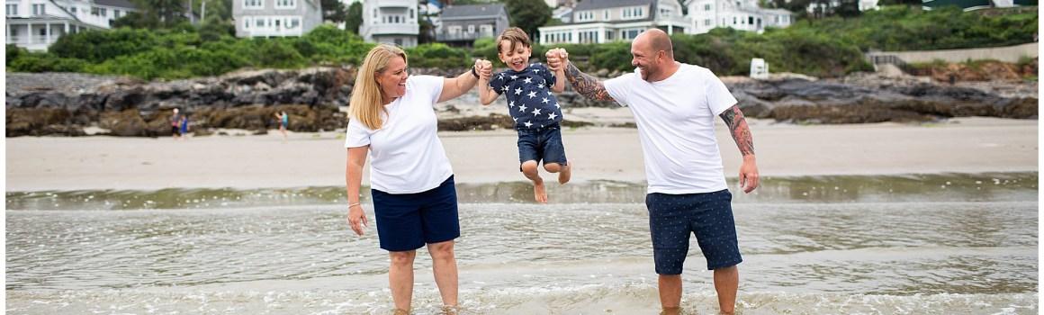 Family Beach Portraits in Ogunquit Maine