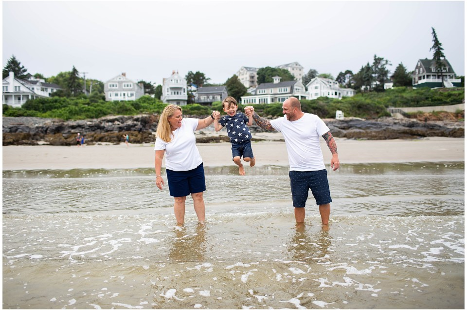 Family Beach Portraits in Ogunquit Maine