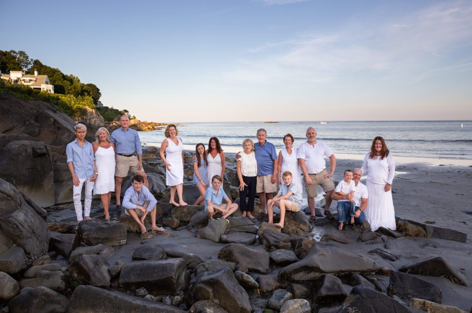 York Harbor Beach Family portrait Session