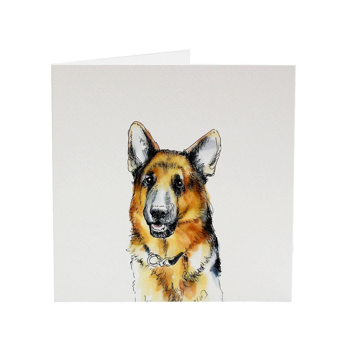 Top Dog German Shepherd Yogi Greeting Card