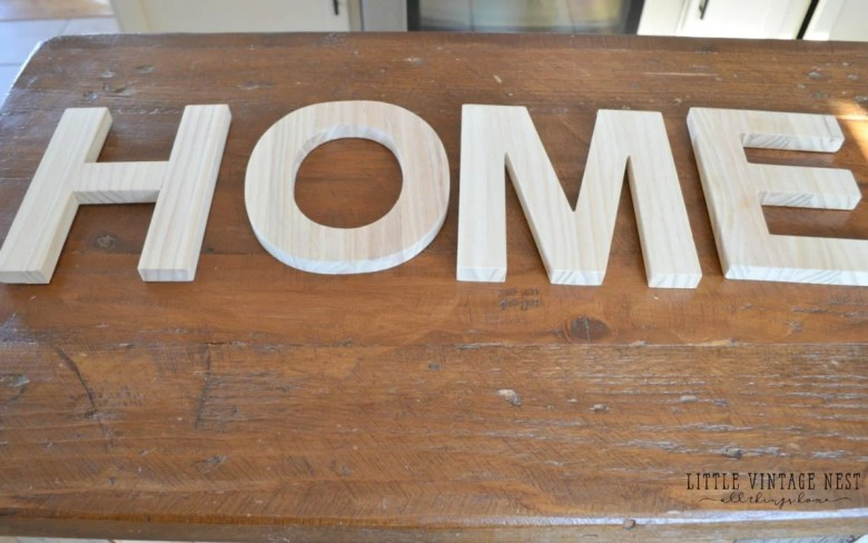 DIY HOME Sign Letters