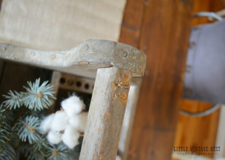 Vintage Toolbox used as Farmhouse Table Centerpiece