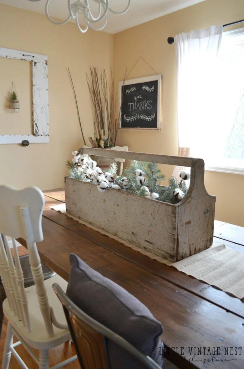 Wooden Toolbox in Dining Room