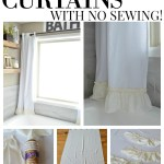 No Sew Farmhouse Curtains Sarah Joy