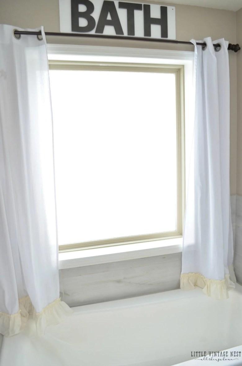 No Sew Farmhouse Style Curtains