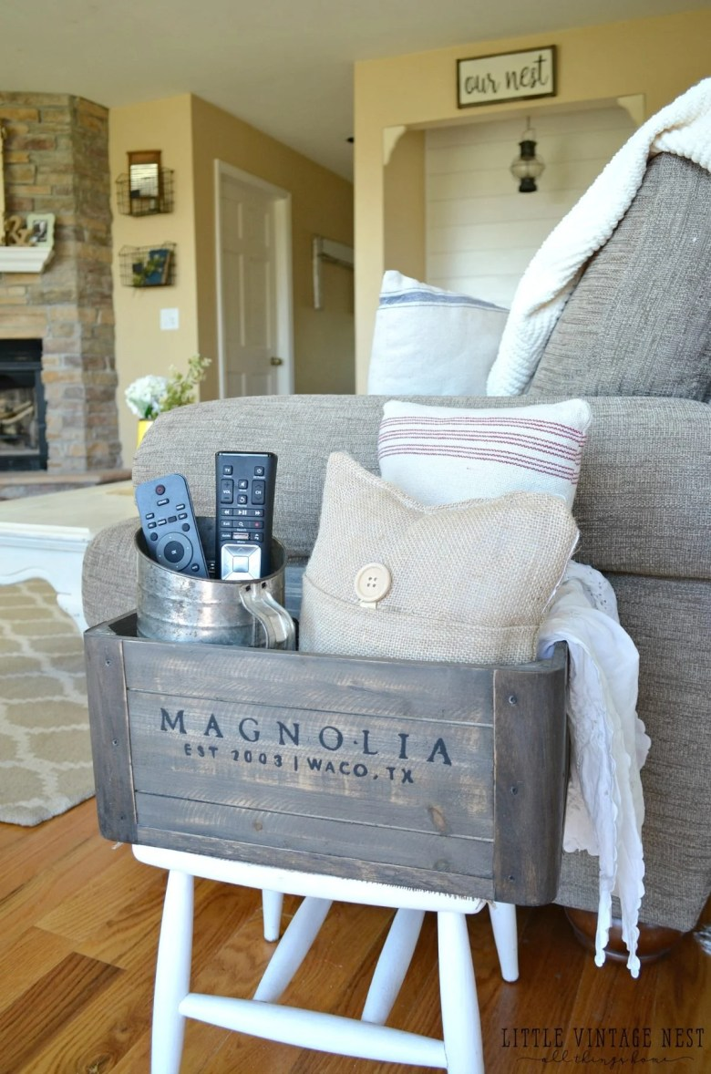 5 Ways to Style a Wooden Crate Living Room Cubby
