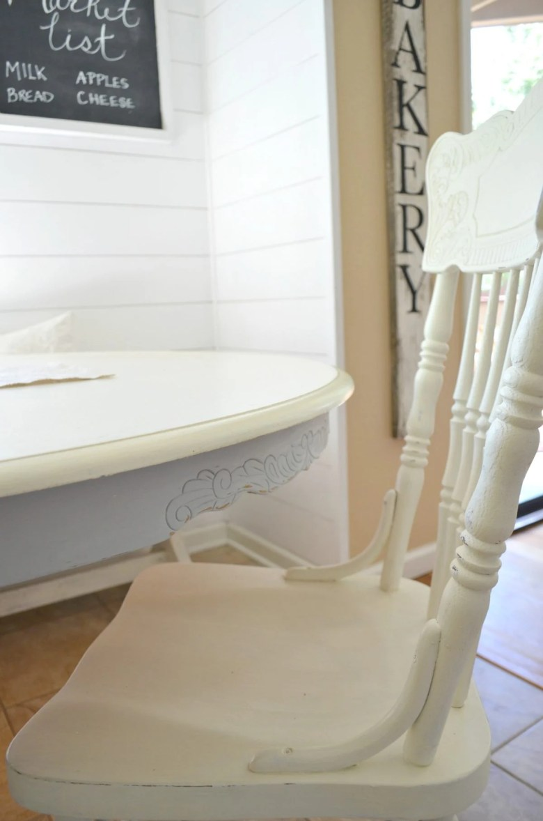 DIY Chalk Painted Antique Dining Table