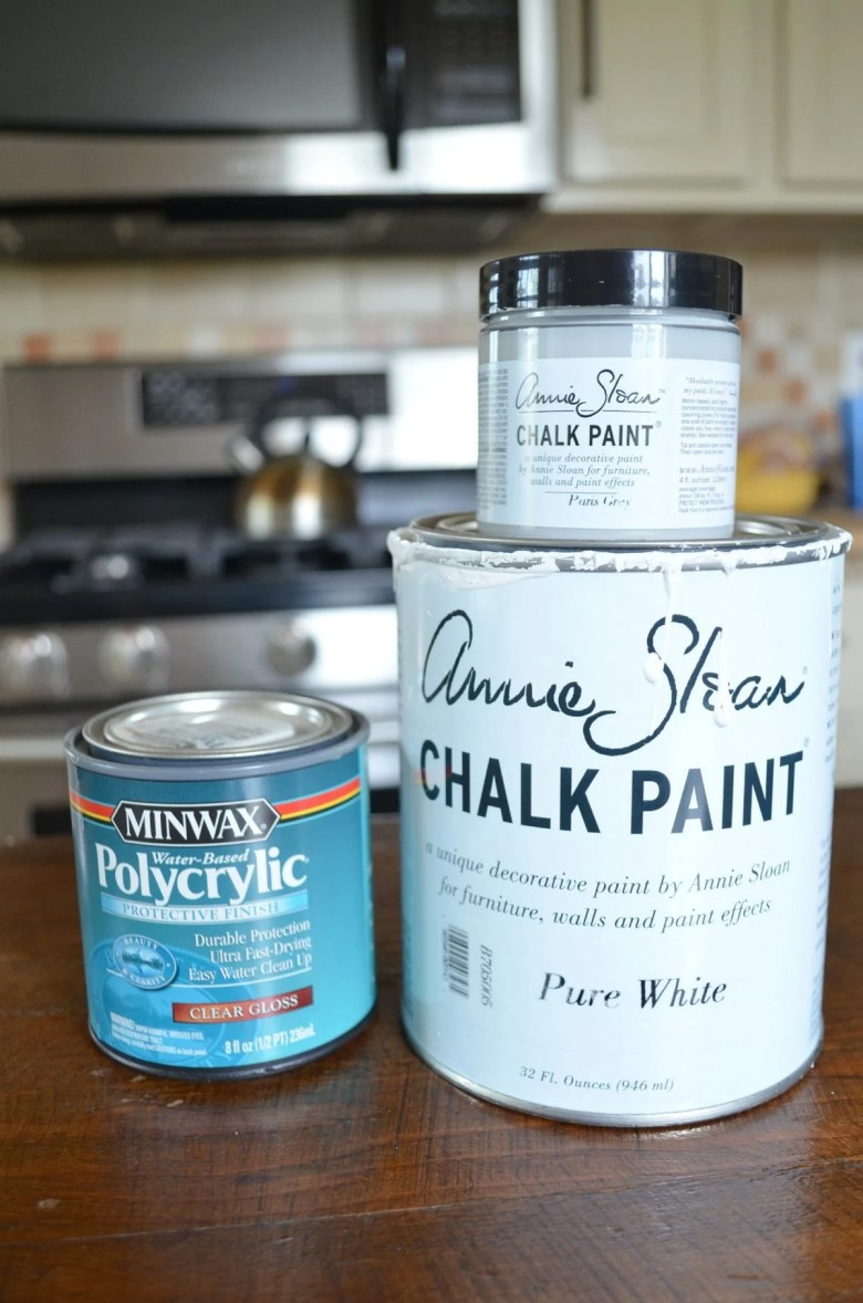 Dining Room Table makeover supplies
