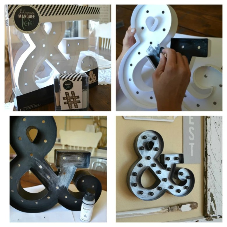 Making Marquee for Farmhouse Gallery Wall with Heidi Swapp products