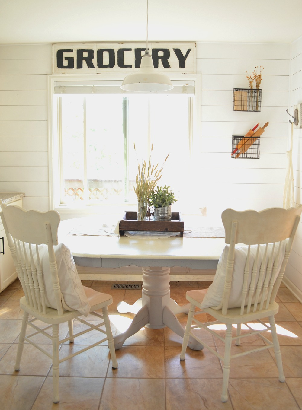 kitchen table nook wall tile designs farmhouse breakfast tour sarah joy blog and