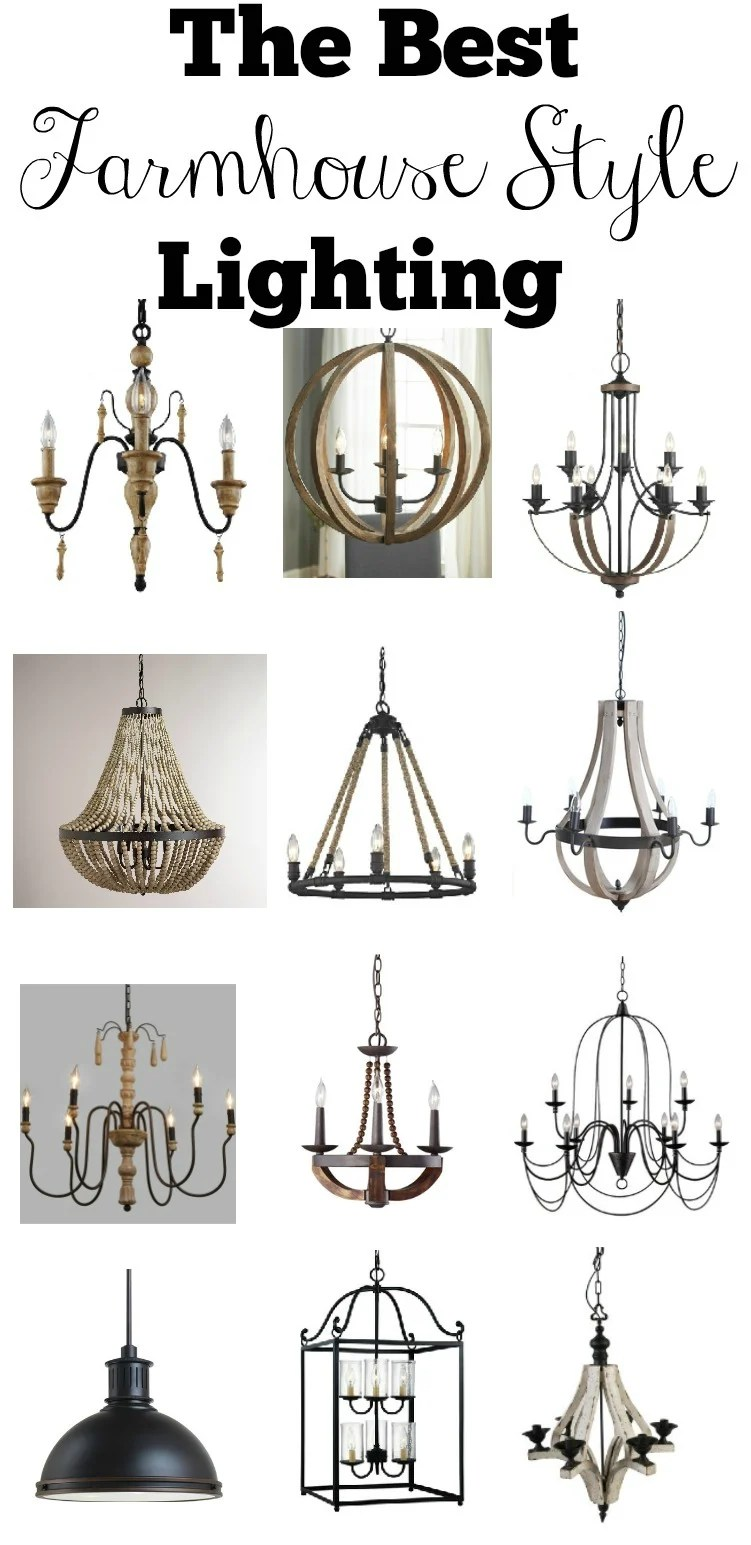 The Best Farmhouse Style Lighting. Affordable lighting options for every room in your home.