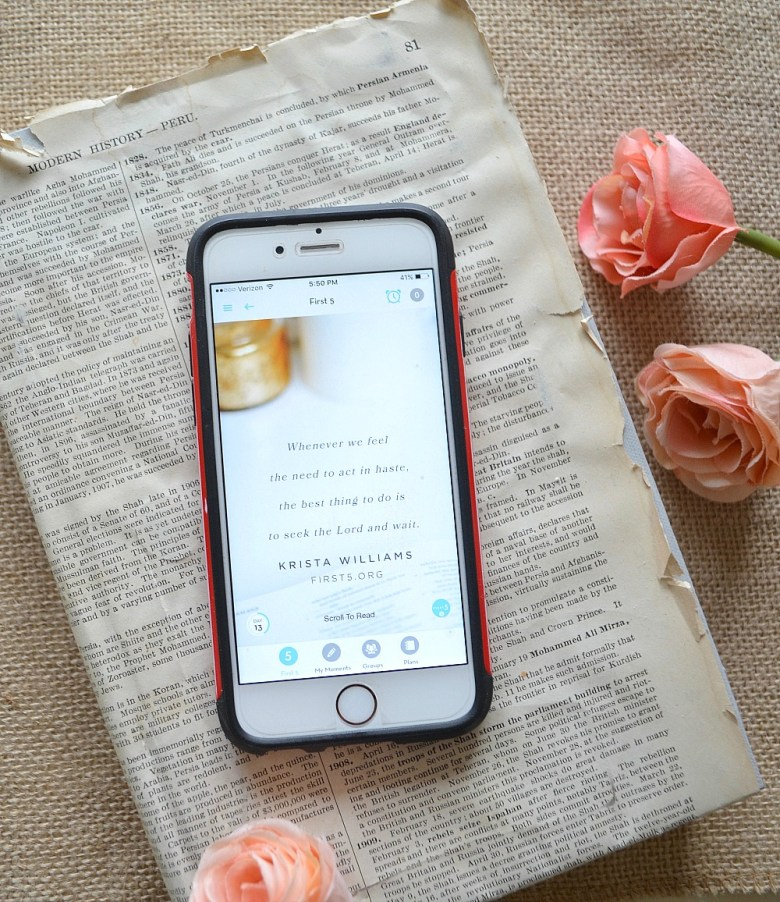 Friday Favorites: First 5 App Daily Devotion