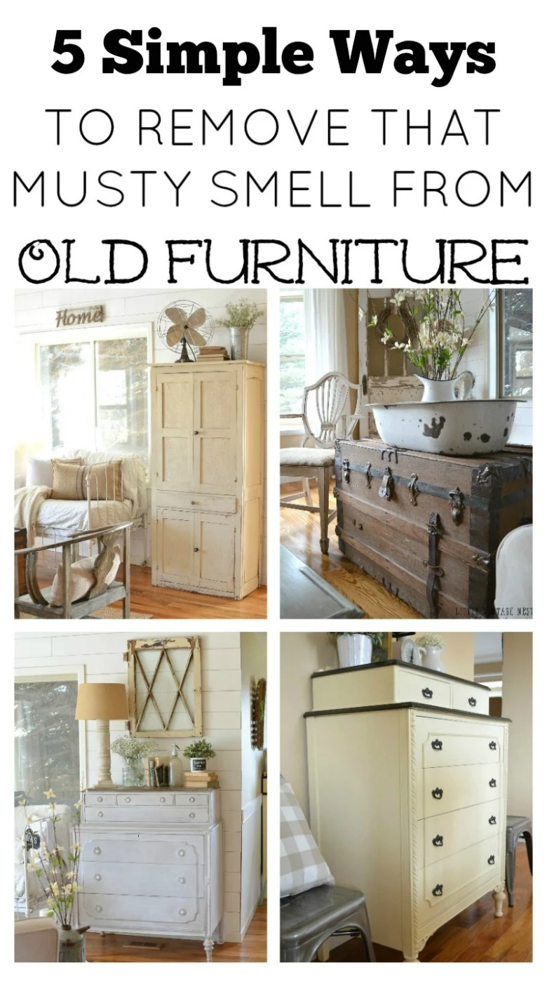 5 Simple Ways to Remove that Musty Smell from Old Furniture. Easy tips and tricks to eliminate odors from vintage furniture.