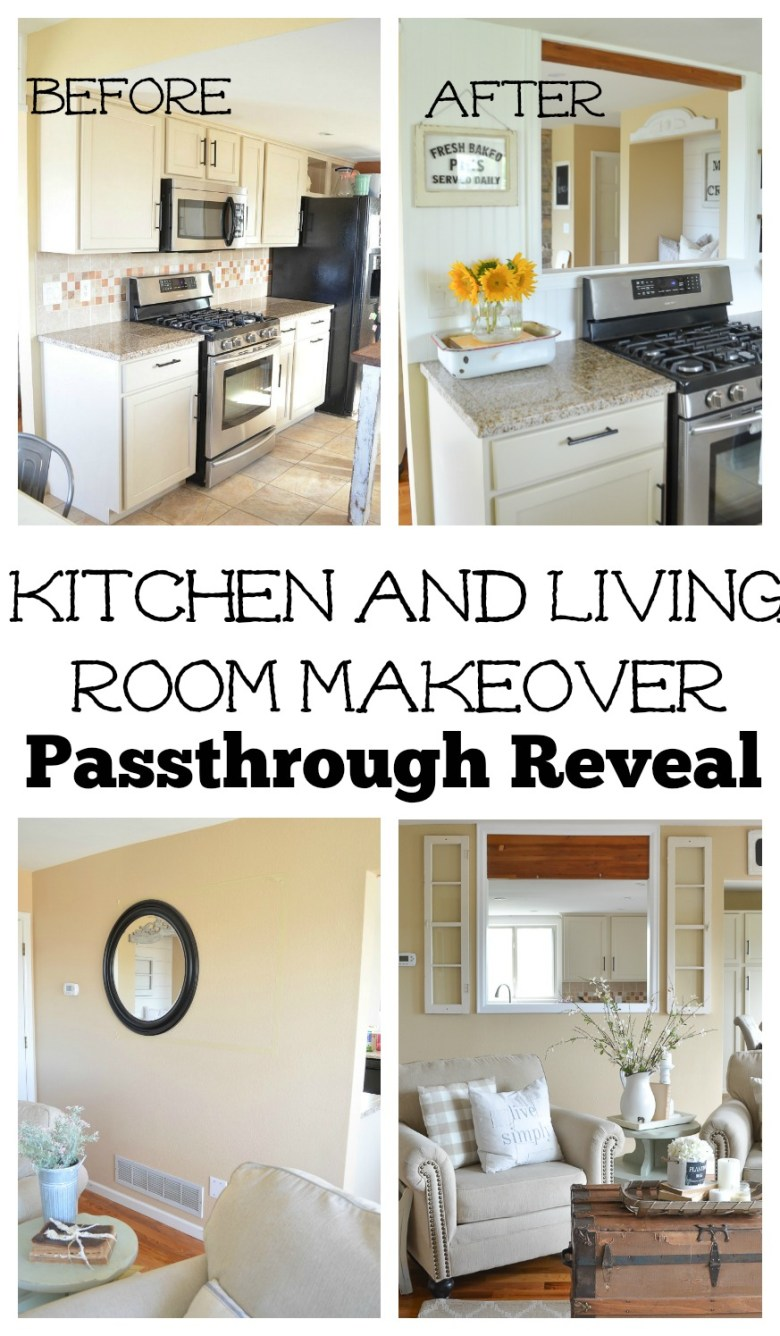 Kitchen and Living Room Passthrough Makeover