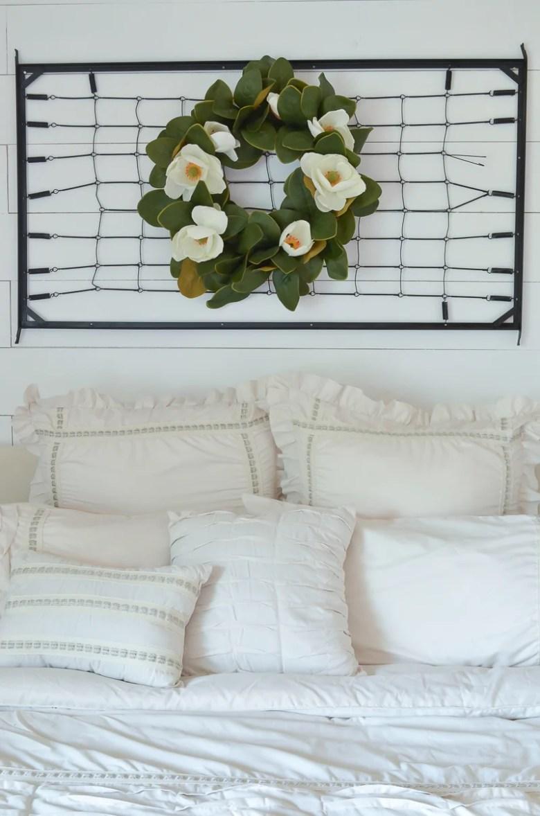 A Vintage Crib Spring Makeover & Bedroom Refresh