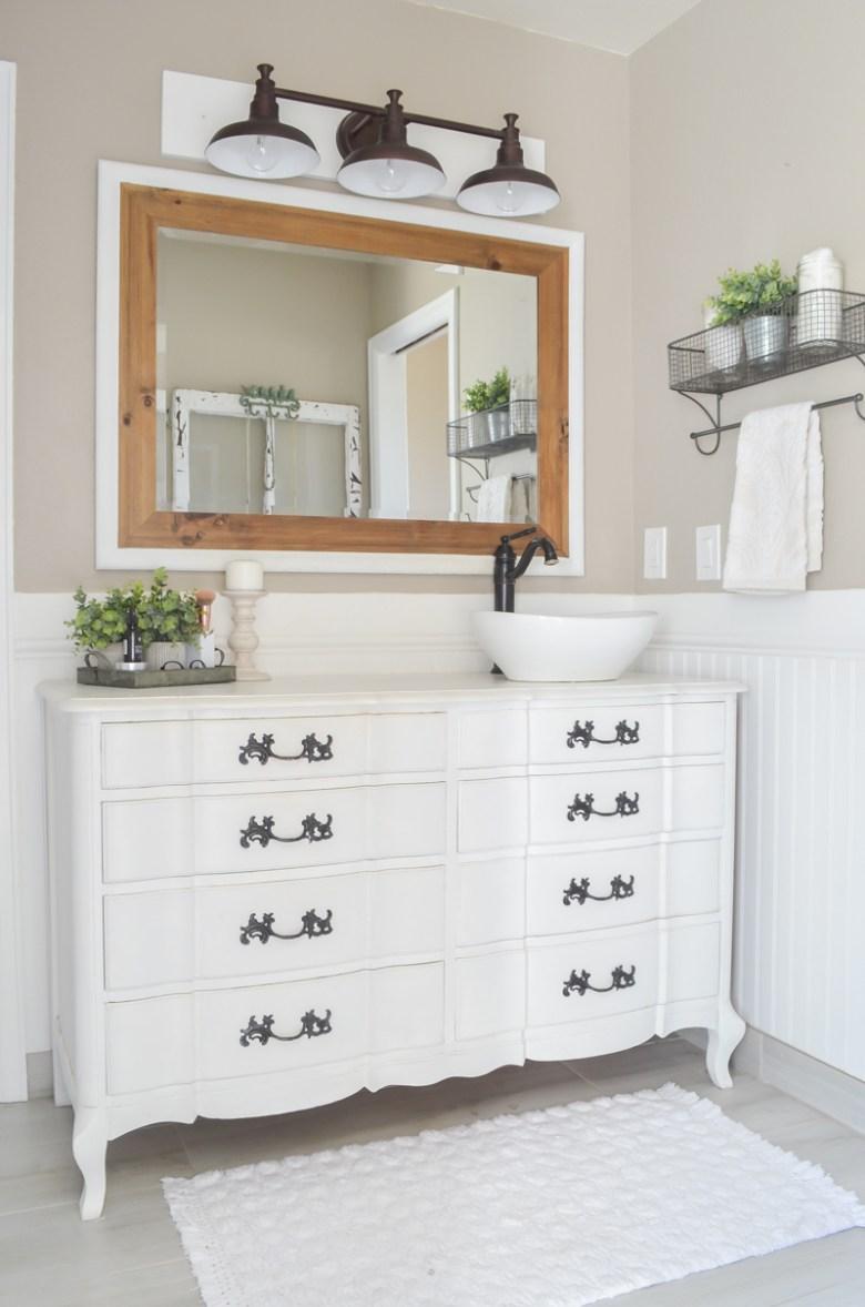 Farmhouse style master bathroom refresh