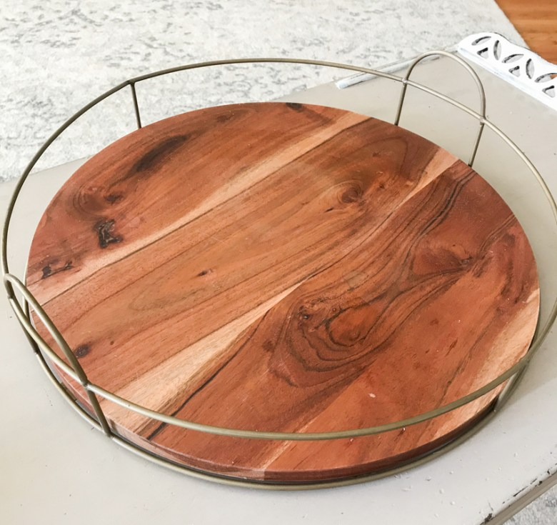 An Easy Rustic Tray Makeover