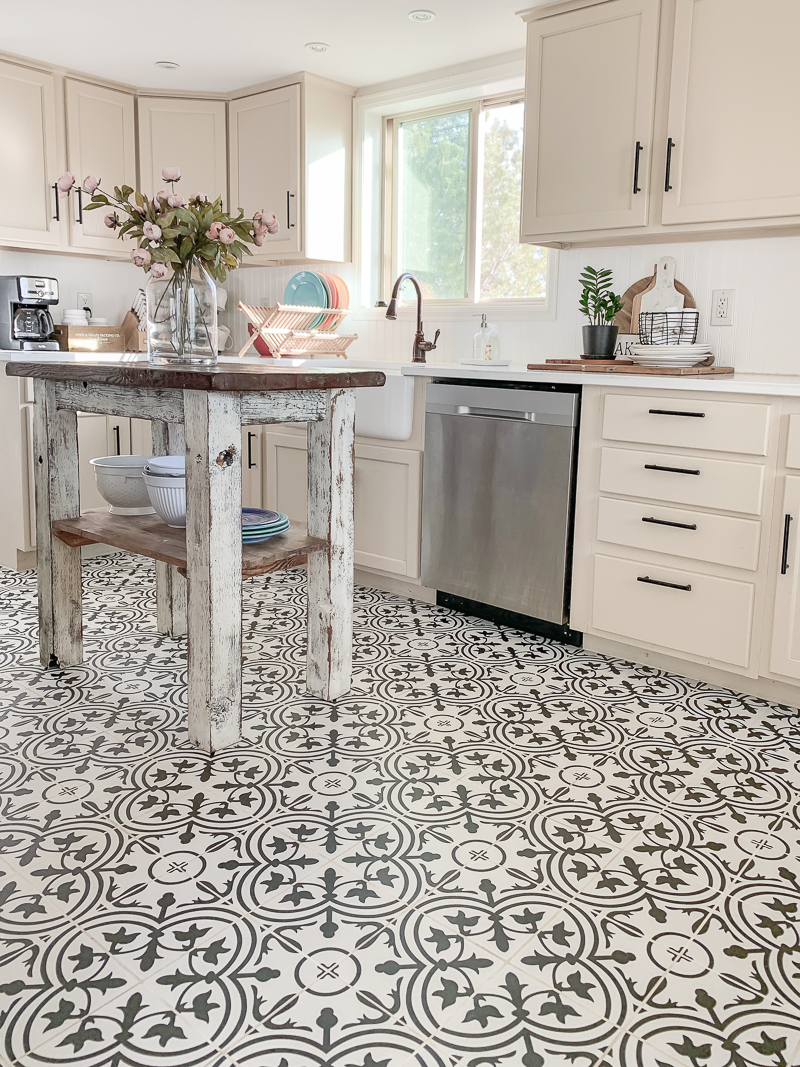 kitchen tile update grout cleaning