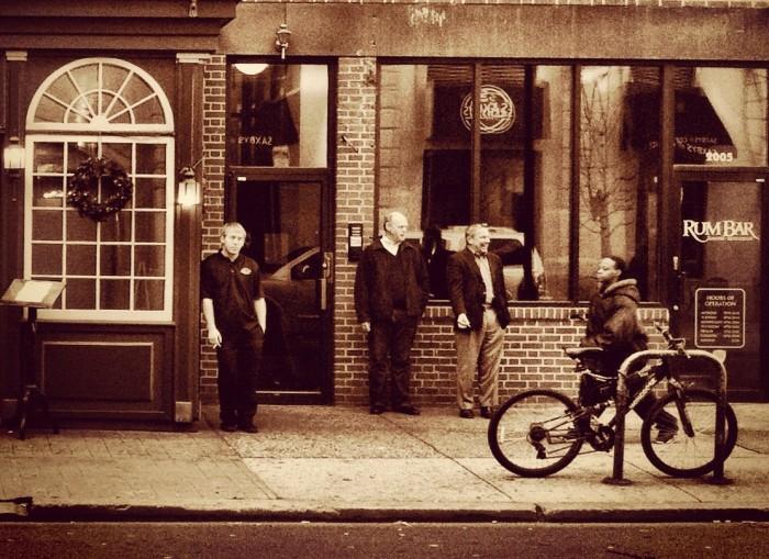 Bicycles, Sidewalks, and Sepia--Philadelphia 2011.