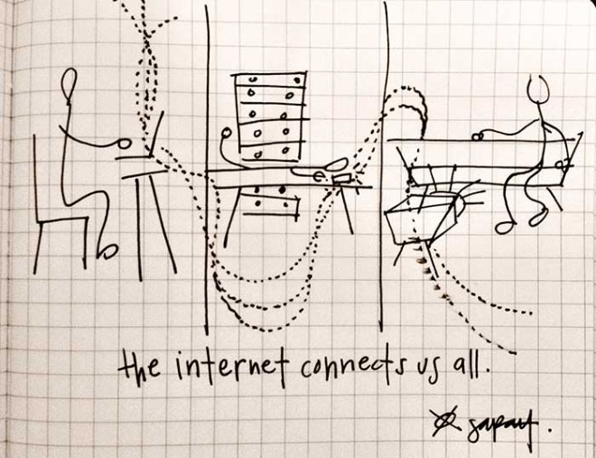 The internet connects us all