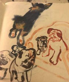 Brushstroke dogs