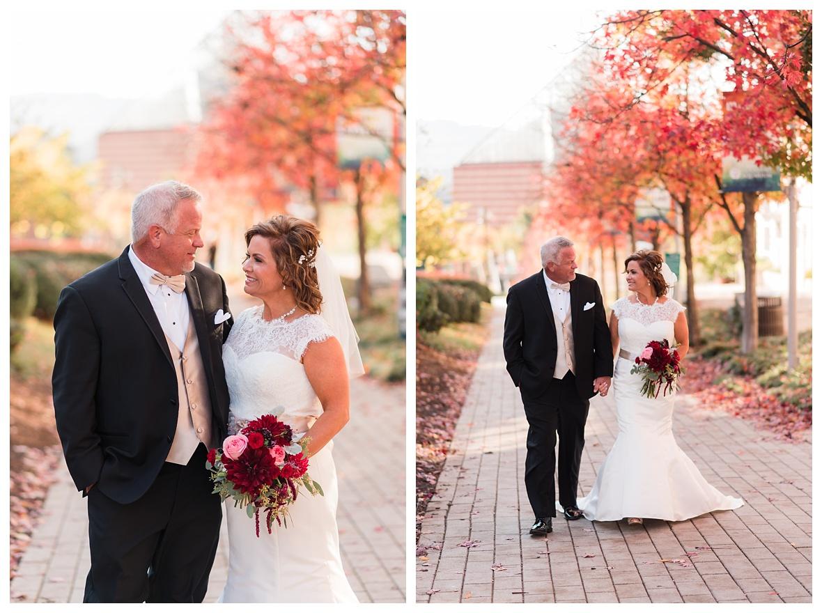 Fall wedding downtown chattanooga