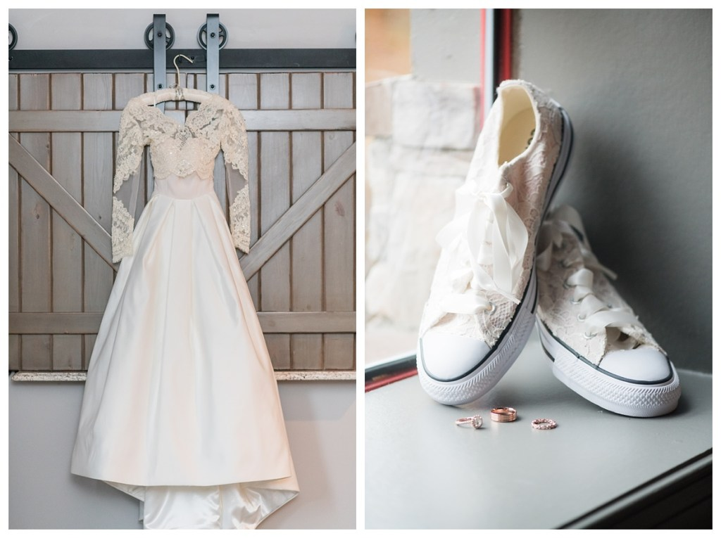 wedding dress with sleeves and white converse