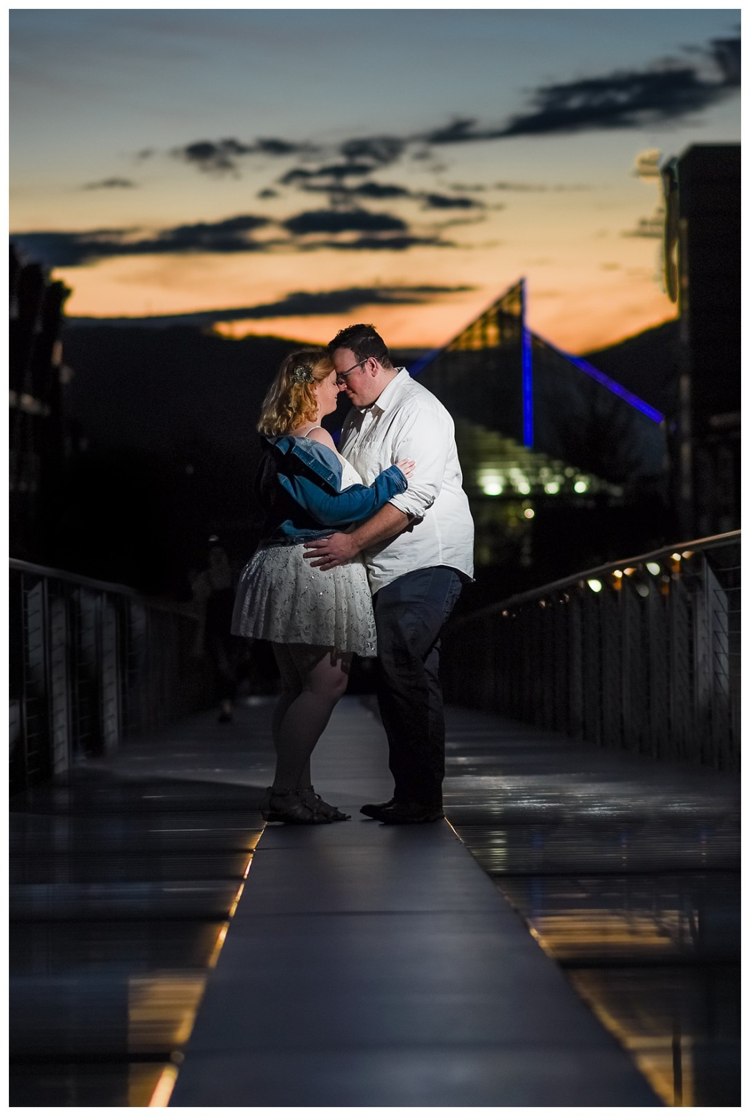 nightime engagement photos
